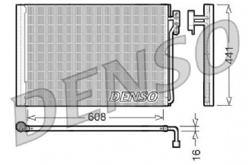 JRW000020 Denso OEM AIR CONDITIONING CONDENSOR 3.0/4.2/4.4 DCN14001